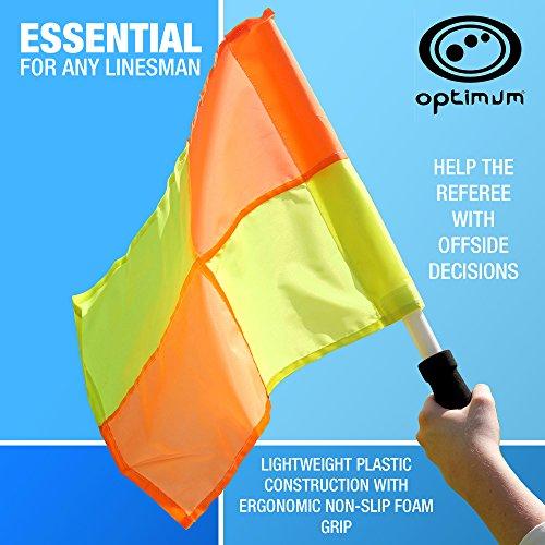 Optimales Training Schiedsrichterassistenten Flagge Set, Orange/Gelb