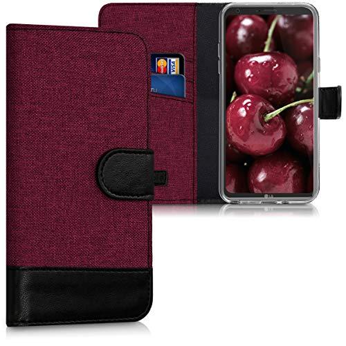 kwmobile LG Q6 / Q6+ Hülle - Kunstleder Wallet Case für LG Q6 / Q6+ mit Kartenfächern & Stand