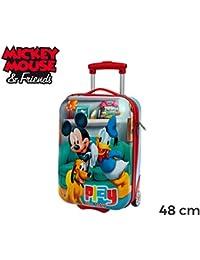 MWS3057 4521151 Trolley rígida de mano en ABS de Mickey Mouse y sus amigos 48x30x18 cm
