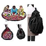 NOTAG Kinder Aufräumsack Spieldecke, Foldable Spielzeugsack Durchmesser 150CM, Aufbewahrung Beutel Spielsack Sack (rot)