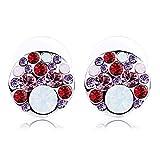 MeraStore Fashion jewelry red-white ear-...