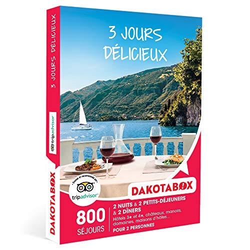 DAKOTABOX - 3 jours délicieux - Coffret Cadeau Séjour Gourmand - 2 nuits avec...