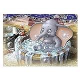 SODIAL(R) 5D DIY diamond painting bath bubble elephant embroidery cross stitch home decoration art