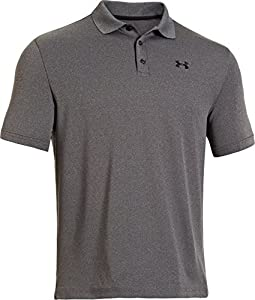 Under Armour Performance Polo Men's Short-Sleeve Shirt, Carbon Heather/Black (090), X-Large