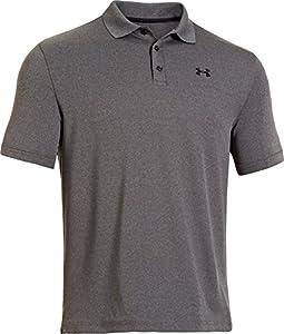 Under Armour Performance Polo Men's Short-Sleeve Shirt, Carbon Heather/Black (090), X-Large