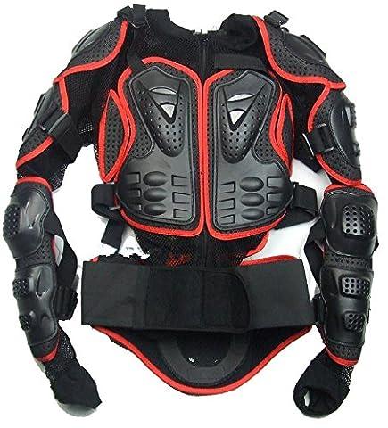 Größe XXL Rot Pièces Motorcycle Jacket Full Body protection Spine Chest Équipement Armure Off Road Racing Motocross Protecteur Vêtements fit für 2008 2009 2010 2011 2012 Honda CB1000R