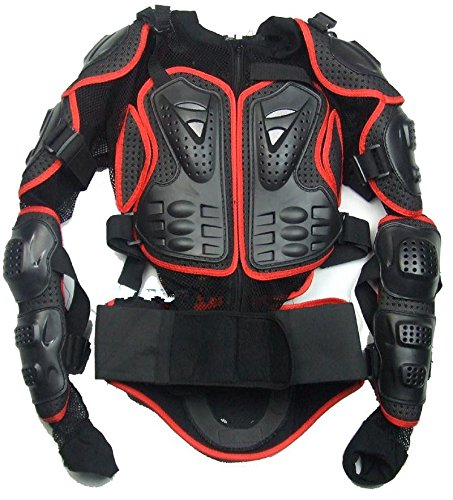 Größe XXXL Rot Pièces Motorcycle Jacket Full Body protection Spine Chest Équipement Armure Off Road Racing Motocross Protecteur Vêtements fit für 2009 2010 2011 2012 Yamaha YZF R1 (2011 Yamaha R1)