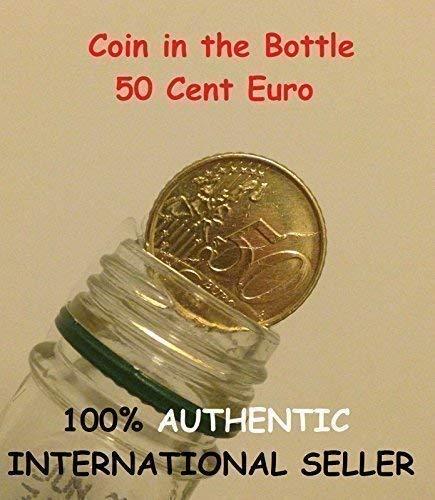 QUICK PICK MAGIC klappbares Münze 50 Cent Euro / magisch Münze in Flaschen 50 Cent Euro