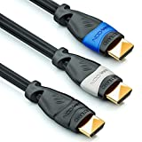 deleyCON HDMI Kabel Set - 3X 1m kompatibel zu HDMI 2.0a/b/1.4a - UHD 4K HDR 3D 1080p 2160p ARC - High Speed mit Ethernet - Blau/Grau/Schwarz