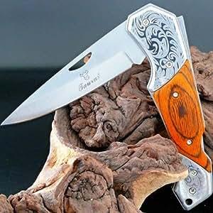 """Couteau De Poche Pliant Chasse Original USA TAURUS """"Celtic Tribal"""" Mm141"""