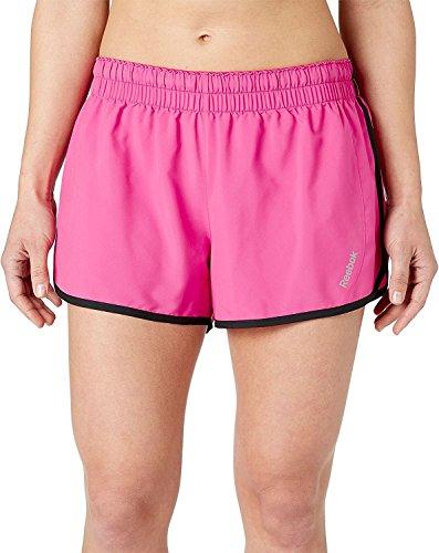 Reebok Women's Solid Running Shorts, (Berry Blast, 1X) (Blast Reebok)
