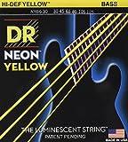 Dr Cordes Nyb63030-125Medium Lot fabriqué à la main Neon Jaune Haute définition avec revêtement à 6cordes Cordes de contrebasse