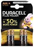 Duracell Plus Power Typ AAA Alkaline Batterien, 4er Pack