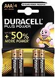 Duracell Plus Power Batterie Alcaline, Ministilo, AAA, Confezione da 4