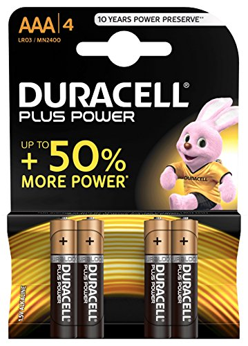 Duracell – Pilas alcalinas Plus Power Tipo AAA