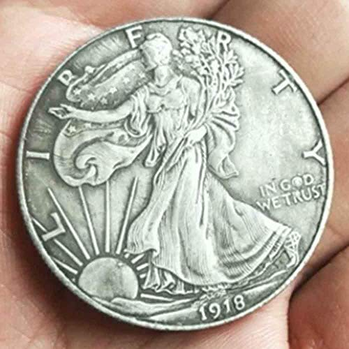 YunBest Best Morgan Silver Dollars - 1918 Old Coin Collecting Silber-Dollar USA Old Original Pre Morgan Dollar BestShop (Silber Morgan Dollar)