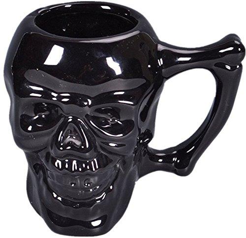 adiasen 1schwarz handgefertigt Terror Einzigartige Louis VI China Keramik Skull Totenkopf Skelett Tassen Kaffee Becher Kaffee Milch Tasse Halloween Geschenk Totenkopf Kelch
