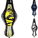 TurnerMAX robuster Boxsack, Uppercut- / Kickbox- / Boxtraining, MMA, gelb/schwarz