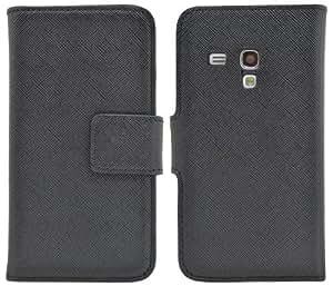 Suncase Bookstyle Ledertasche für das Samsung Galaxy S3 Mini i8190 schwarz