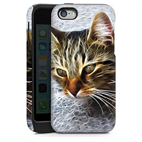 Apple iPhone 4 Housse Étui Silicone Coque Protection Chat Chat Petit chat Cas Tough brillant