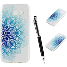 "Galaxy A3 2017 Funda, SsHhUu Hybrid Totem Light Weight Flexible Durable Transparent Ultra Slim Soft TPU Gel Silicone Protective Rear Skin Cover Funda para Samsung Galaxy A3 2017 / A320F / A320 (4.7"")"