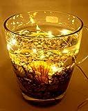 5 X 10er LED Drahtlichterkette Lichterkette Lämpchen Warmweiß transparentes Weihnachten Weihnachtsbeleuchtung inklusive Batterien