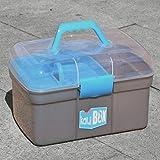 Aufbewahrungsbox aus geprüftem Kunststoff mit Deckel und Griff für Hunde-Kauartikel, Hundesachen, Nähzeug, Lego, Playmobil, kleine Bücher, CD's.
