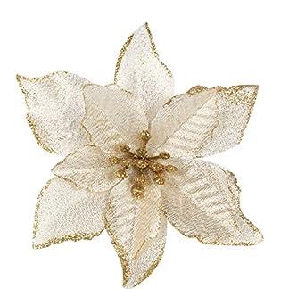 Con purpurina de Navidad (Árbol de Navidad decoración adorno de fiesta–dorado