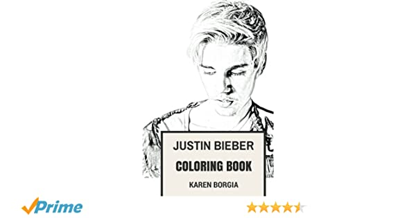 Justin Bieber Coloring Book Youtube Prodigy And Bestselling Artist Of All Time Beautiful Clairvoyant Pop Rock EDM Vocalist Inspired Adult