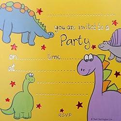 Jean Barrington tarjetas de invitación para fiestas - dinosaurio