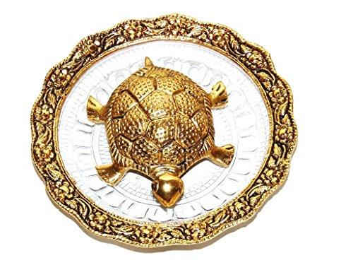 Saudeep India Trading Corporation Oxidized Gold Plated Fengshui Tortoise (14x14x3cm, 235g)