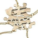 Lux Accessories LUX Zubehör Gold Ton Always Together Never Apart Puzzle Halskette Set