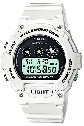 Casio Women's Digital Watch with Resin Strap W-214HC-7A
