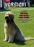 INDIGOS UG - Türschild FunSchild - SE354 DIN A5 ACHTUNG Hund Briard - für Käfig, Zwinger, Haustier, Tür, Tier, Aquarium - aus hochwertigem Alu-Dibond beschriftet sehr stabil