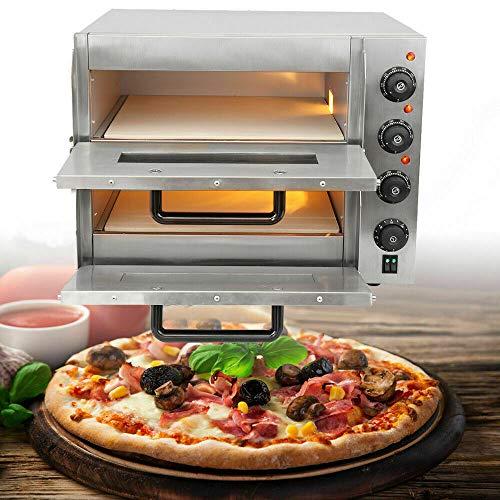 TryESeller Elektrisch Pizza Ofen 3000W Rostfreier Stahl