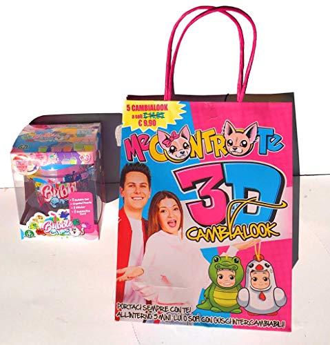 Toys Me Contro Te Shopper con 5 Fantastici Personaggi Assortiti + Una Simpatica Sorpresa all'Interno della borsina [ Bubble CATZ - scopri Il Tuo Bubble catz ]
