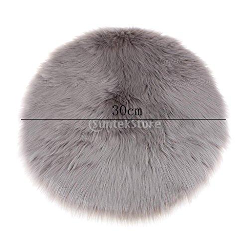 MagiDeal Künstliche Schaffell Teppich in versch. Farben, Größe: Ca. 30x30x6cm - Grau