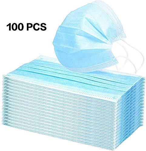 YDYL-LI 100St Einwegmasken Luftdurchlässigem Staubfiltermasken Gasmasken, Medizinische Masken, Masken Mit Elastischem Ohr Industrie Masken, Blau