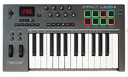 Nektar Impact LX 25+ USB MIDI Controller Keyboard with Nektar DAW Integration