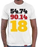 HARIZ  Deutschland Fussball Collection Herren T-Shirt Weiß Designs Wählbar Trikot Weltmeisterschaft EM Inkl Urkunde Bang Sticks WM 32 54 74 90 14 18 XXL