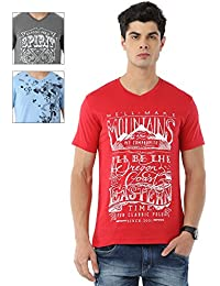 Classic Polo Combo Pack Of 3 Printed T-shirts For Men