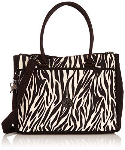 Kipling Halia Tt, Sacs portés main mode femme Multicolore (Zebra Block)