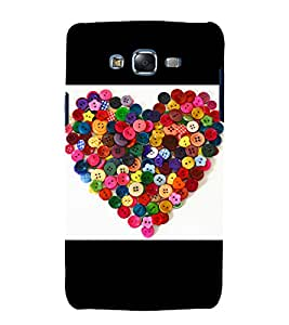 printtech Colored Button Hearts Back Case Cover for Samsung Galaxy A8 / Samsung Galaxy A8 A800F