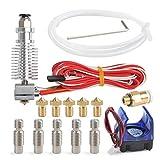 YOTINO J-Kopf Hotend Extruder für 1,75mm 12 3D Drucker V6 Makerbot RepRap mit 5 Stück Extruder Tube und 5 Stück Messing Extruder
