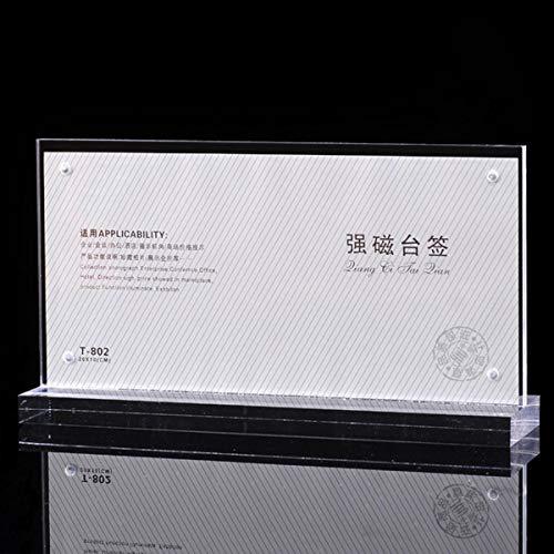 GIlH 10 x 20 cm Foto-Geldschein-Halter aus Acryl, transparent -