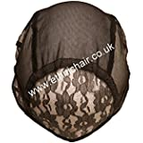 Small Black No Part Weaving Net. Durable Stretchy Material. Wig Cap