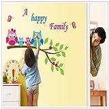 FHDJHU Colorido DIY Lindo árbol genealógico en los niños Etiqueta de la Pared Habitación Cartel de Pared extraíble 82 * 105 cm Calcomanía para el hogar de los niños