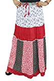 Indiatrendzs Women's Skirts Cotton Red P...