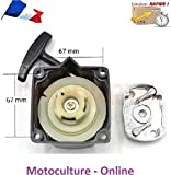 Motoculture-Online Lanceur/démarreur Semi-Automatique + Cloche d'entrainement pour débroussailleuse, tarière ou Machine Multi-Fonctions 5 en 1 (Multifonctions)