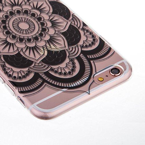iPhone 6S Plus Coque,iPhone 6 Plus Bling Case,iPhone 6S Plus Cover - Felfy Ultra Mince Slim Gel TPU Silicone élégant Ultra Thin Bling Plating Case Coque Bumper Cas Housse pour Apple iPhone 6 Plus /6S  Big Flower